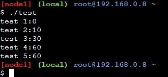 可変引数を使ったサンプルプログラムの実行結果